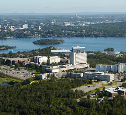 Laurentian University aerial view